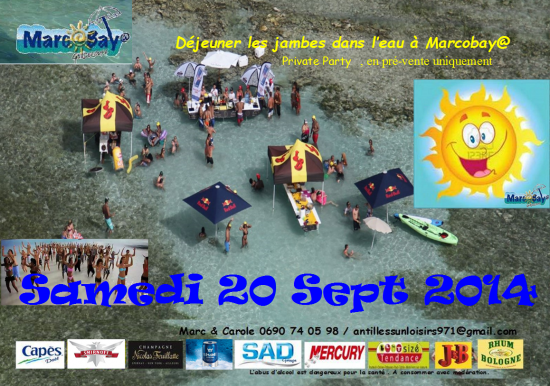 Marcobay flyer sam 20 sept 2014